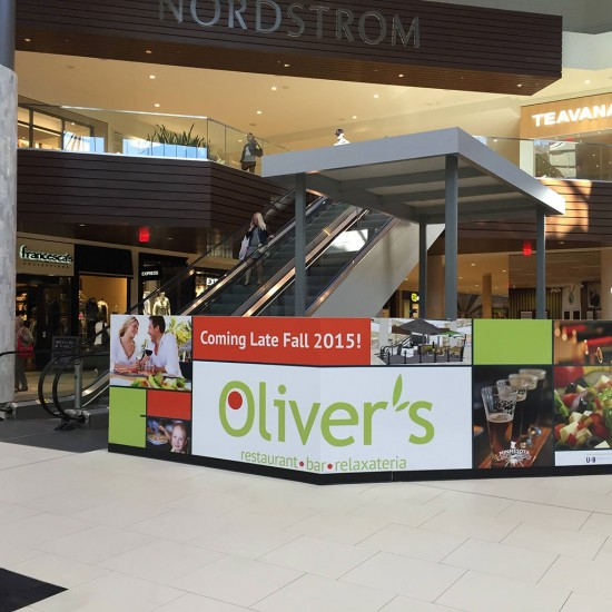 Oliver's construction barrier at Ridgedale