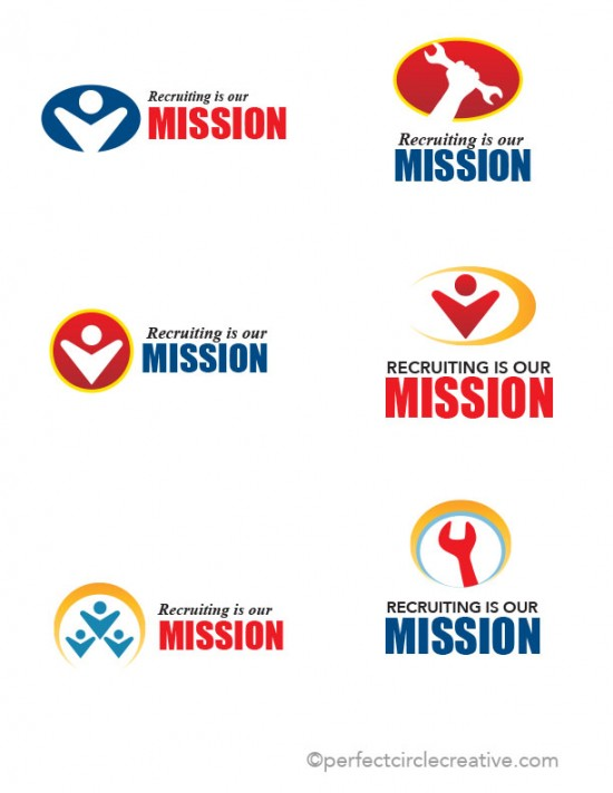 Recruiting Is OurMission Logo ideas