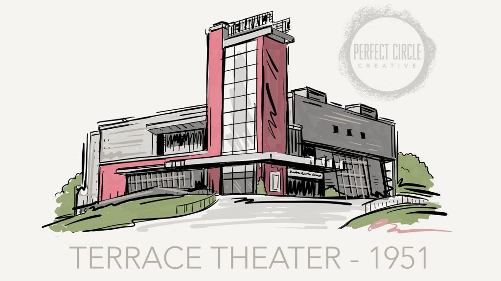 Architectural renderings perfect circle creative for The terrace movie theater