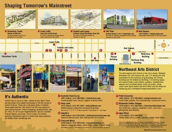 Design for Northeast Minneapolis Chamber of Commerce.