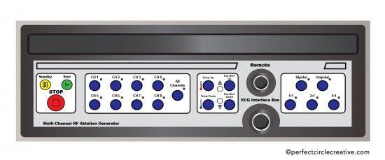 Generator front panel illustration for Medtronic, Inc.